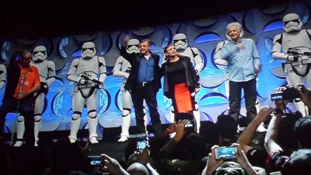 Mark Hamill und Carie Fisher a.k.a. Luke Skywalker und Prinzessin Leia