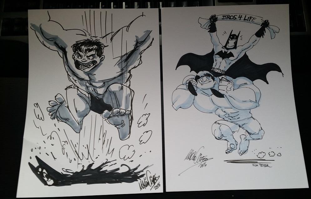 Batman & Hulk (gezeichnet von Marvin Clifford / schisslaweng.net)